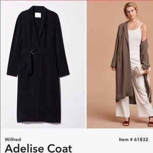 Long black wilfred trench!
